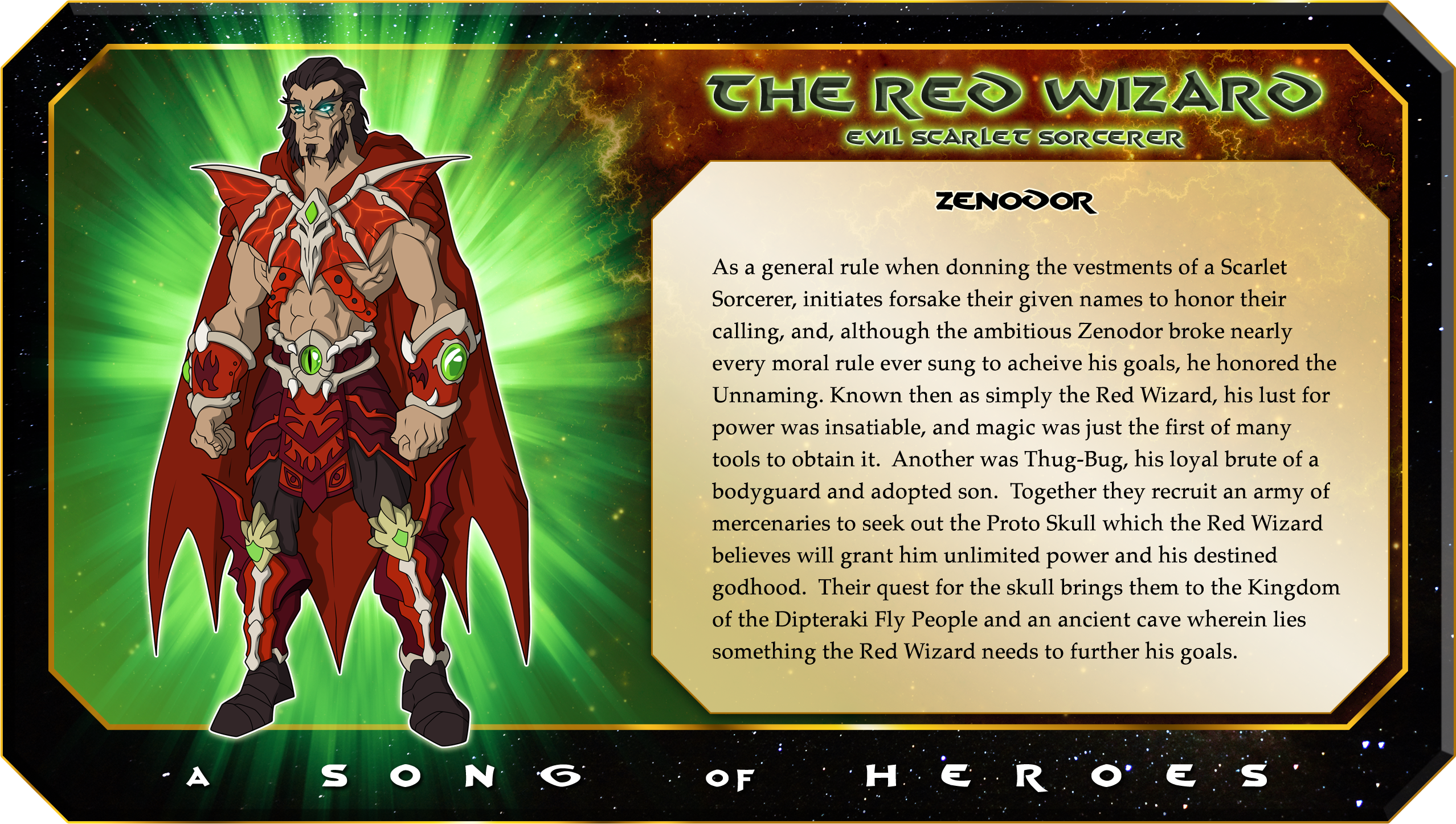 Bio of the Red Wizard