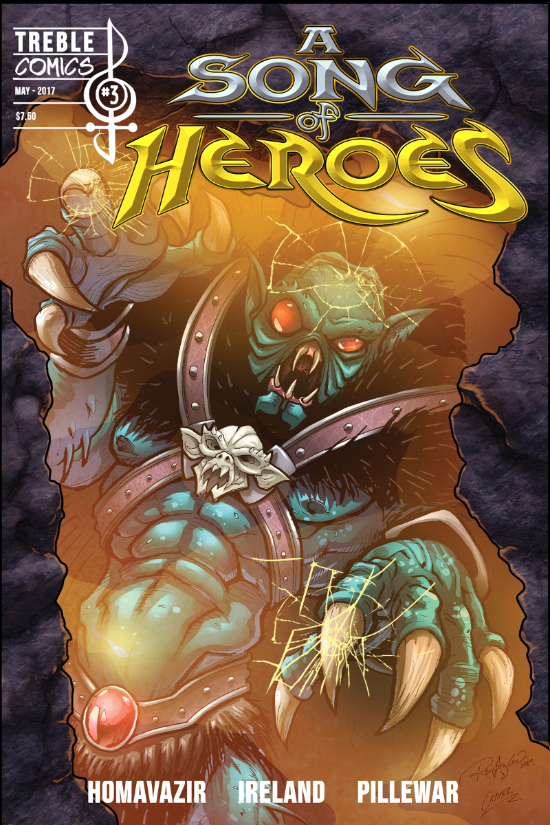 A Song of Heroes – Issue 3 – Cover